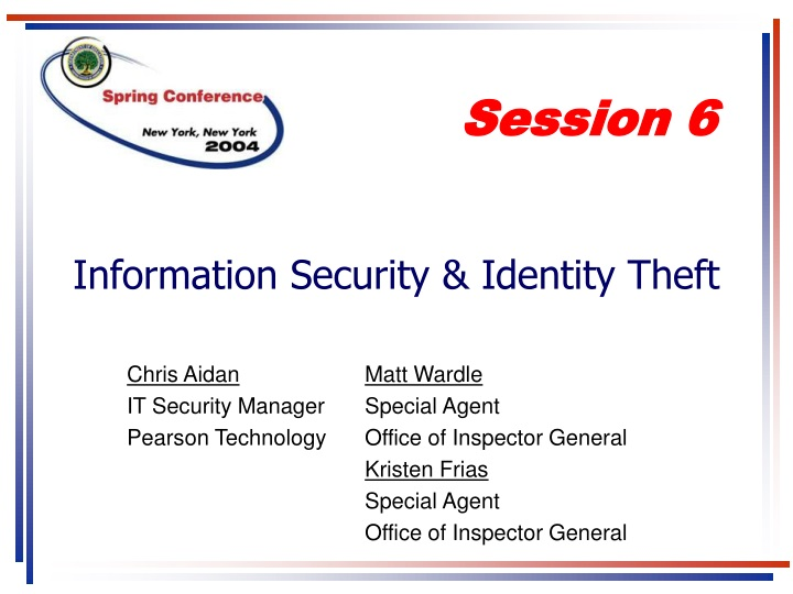 information security identity theft n.