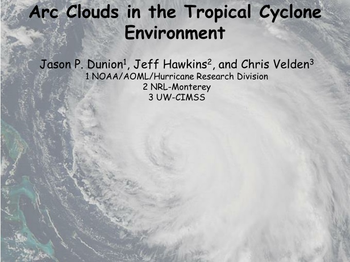 arc clouds in the tropical cyclone environment n.