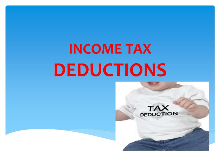 income tax deductions n.