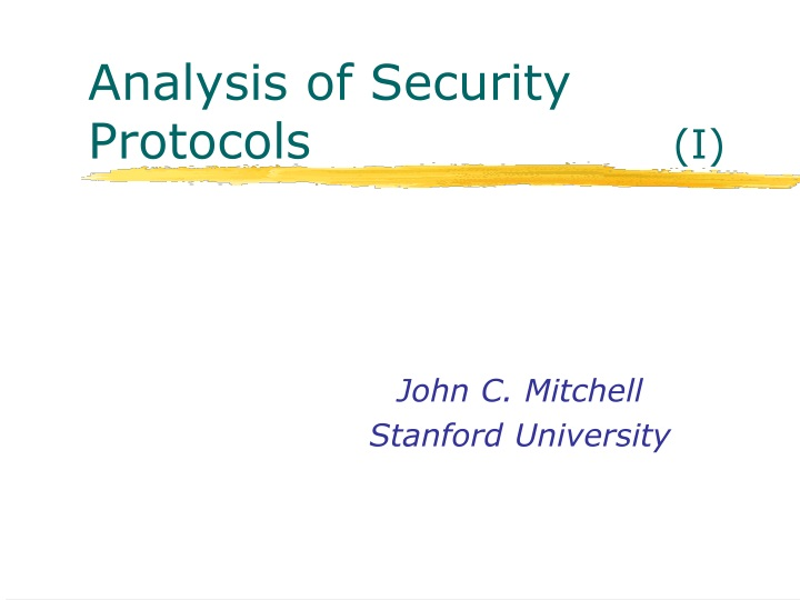 analysis of security protocols i n.