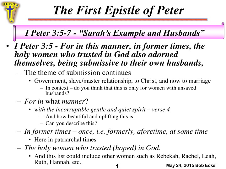 i peter 3 5 for in this manner in former times n.