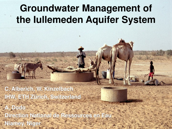 groundwater management of the iullemeden aquifer n.
