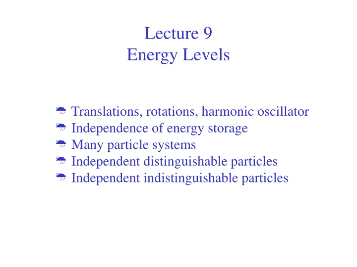 lecture 9 energy levels n.