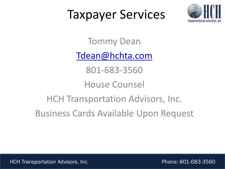 taxpayer services n.