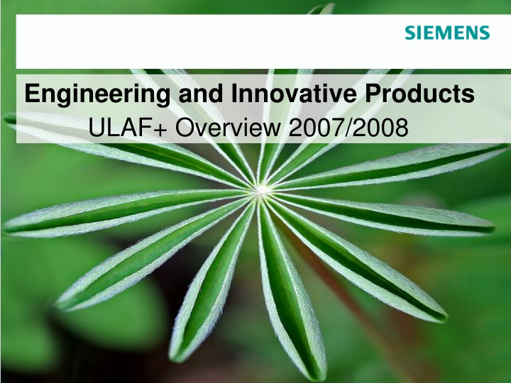 engineering and innovative products ulaf overview n.
