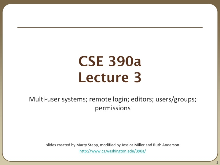 cse 390a lecture 3 n.