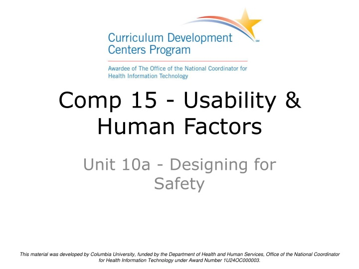 comp 15 usability human factors n.
