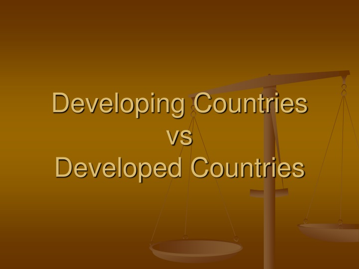 developing countries vs developed countries n.