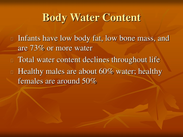 body water content n.