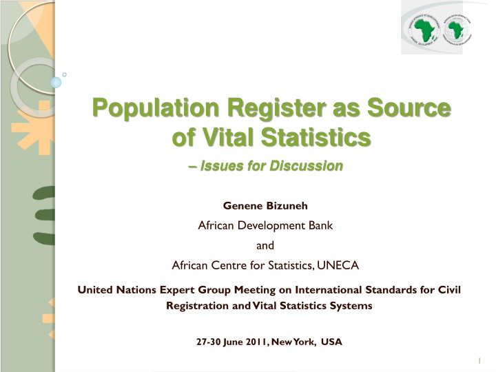 population register as source of vital statistics n.