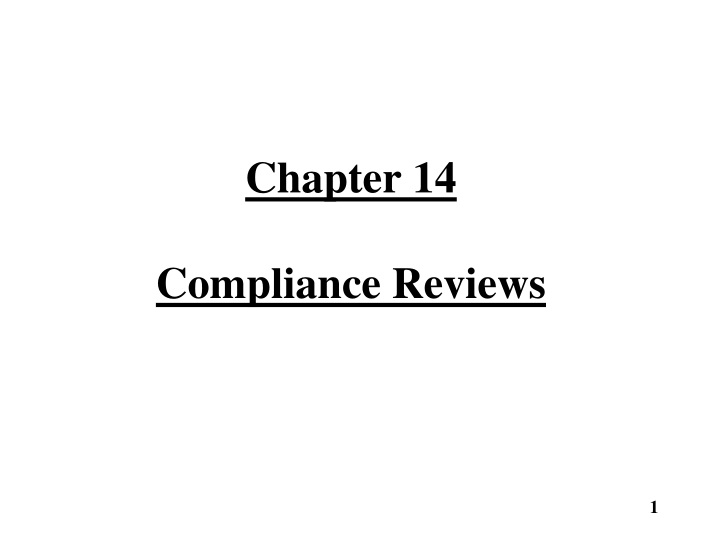 chapter 14 compliance reviews n.