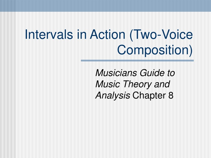 intervals in action two voice composition n.