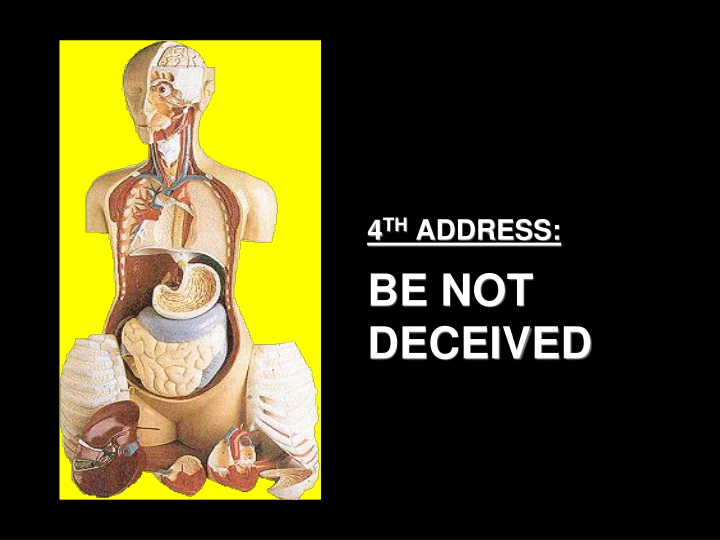 4 th address be not deceived n.