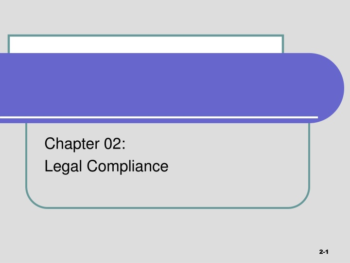 chapter 02 legal compliance n.