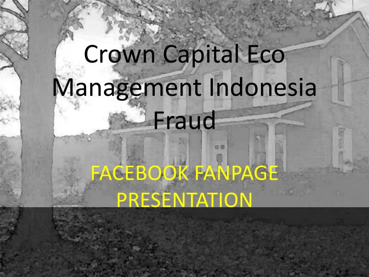 crown capital eco management indonesia fraud n.