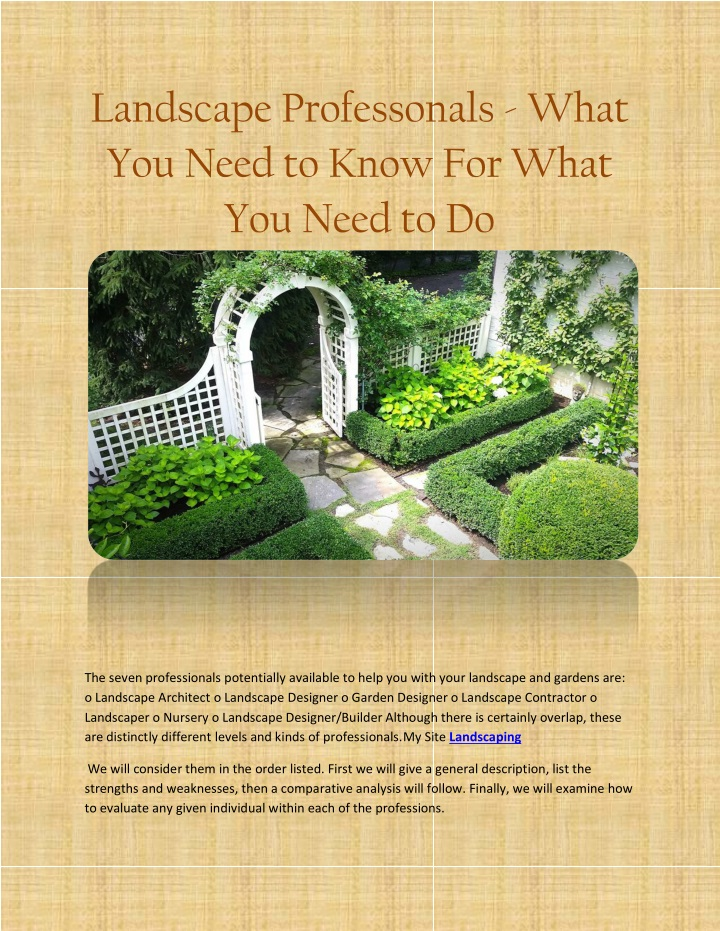 landscape professonals what you need to know n.