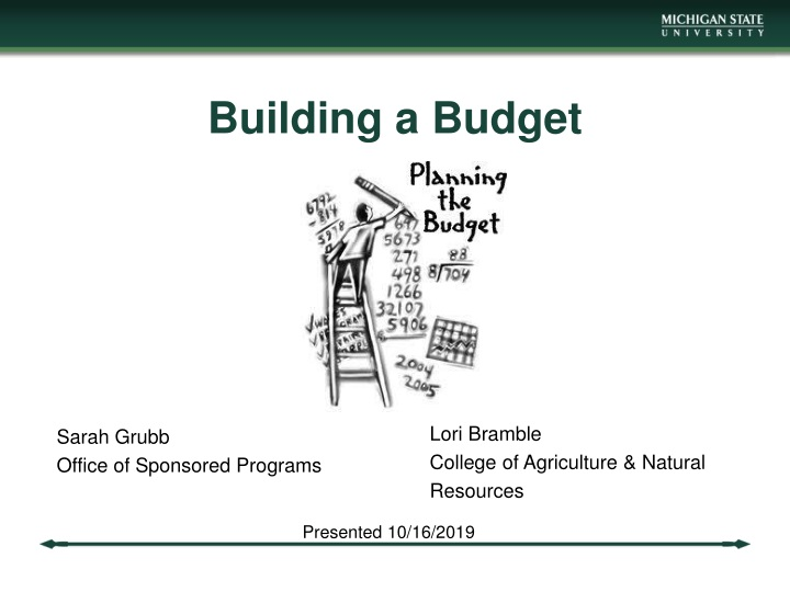 building a budget n.