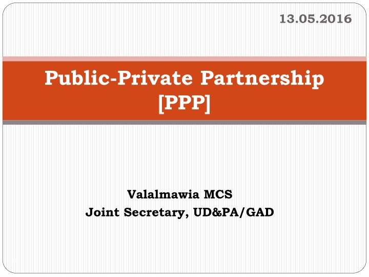 public private partnership ppp n.