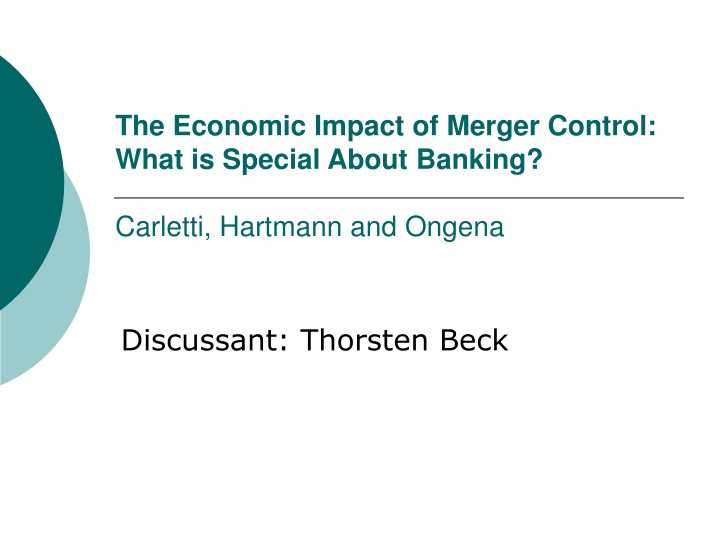 the economic impact of merger control what is special about banking carletti hartmann and ongena n.