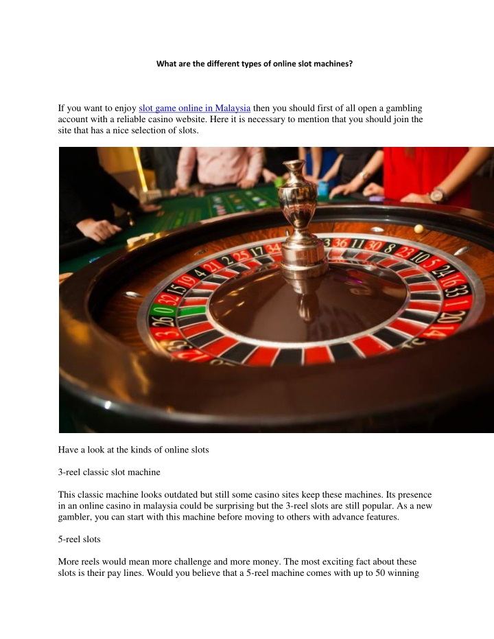 what are the different types of online slot n.