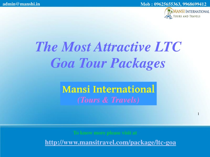 the most attractive ltc goa tour packages n.