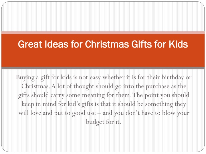 great ideas for christmas gifts for kids n.