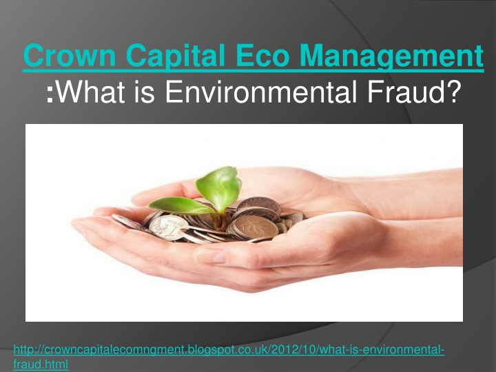 crown capital eco management what is environmental fraud n.