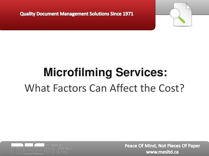 microfilming services n.