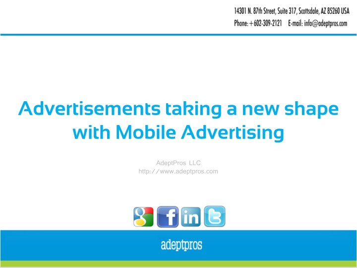 advertisements taking a new shape with mobile n.