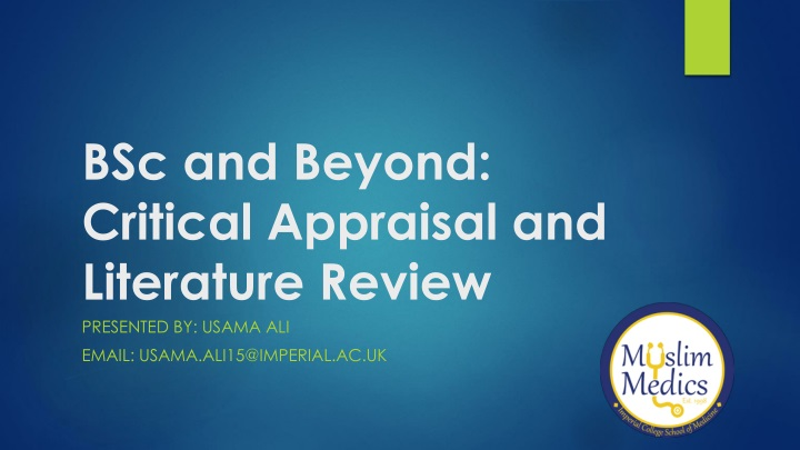 bsc and beyond critical appraisal and literature review n.