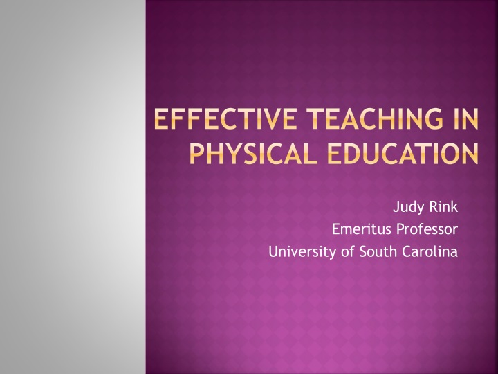 effective teaching in physical education n.