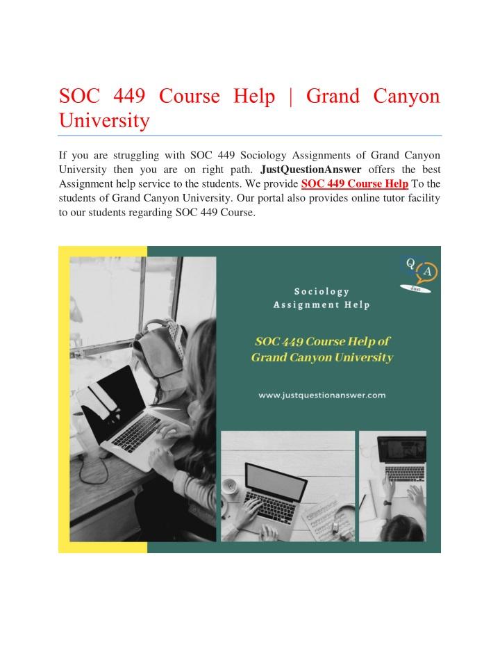soc 449 course help grand canyon university n.