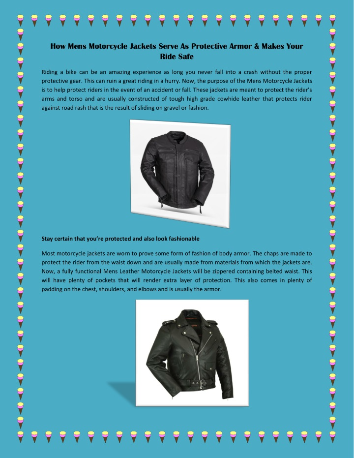 how mens motorcycle jackets serve as protective n.