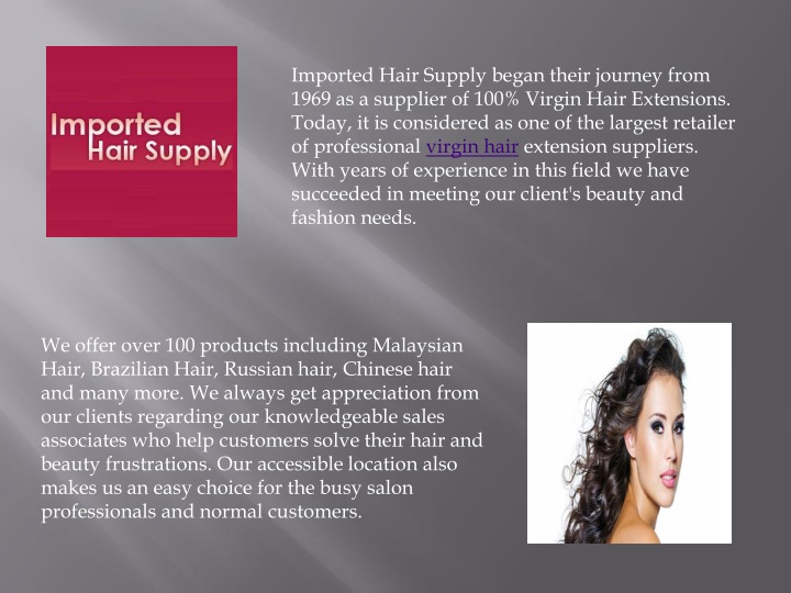 imported hair supply began their journey from n.