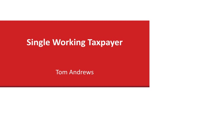 single working taxpayer n.