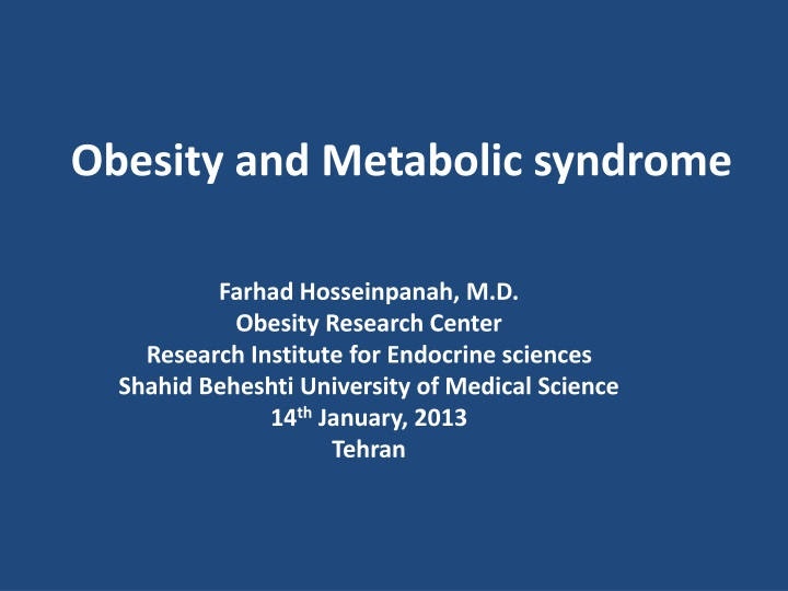 obesity and metabolic syndrome n.