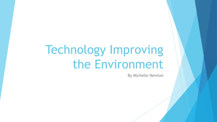 technology improving the environment n.