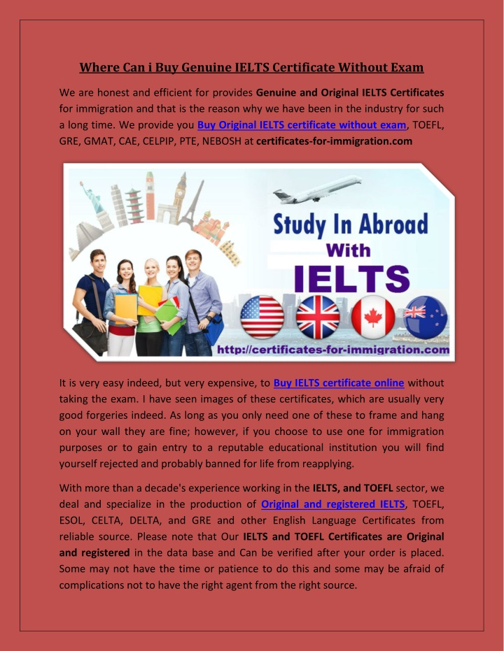 where can i buy genuine ielts certificate without n.