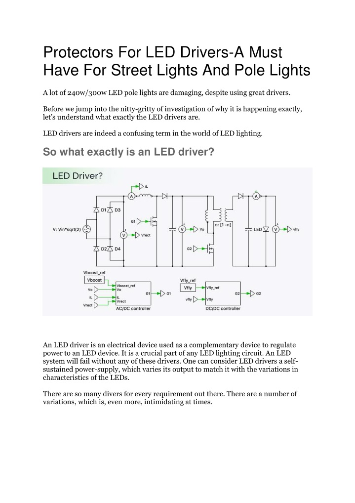 protectors for led drivers a must have for street n.