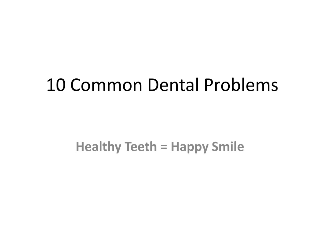 10 common dental problems l.