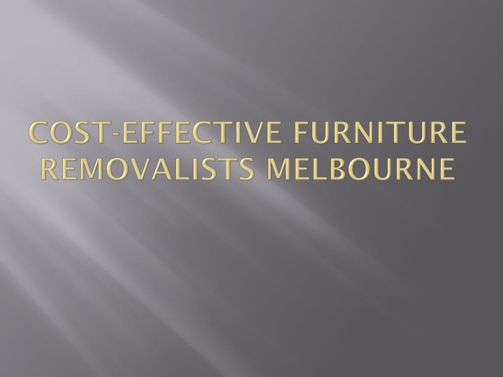 cost effective furniture removalists melbourne n.
