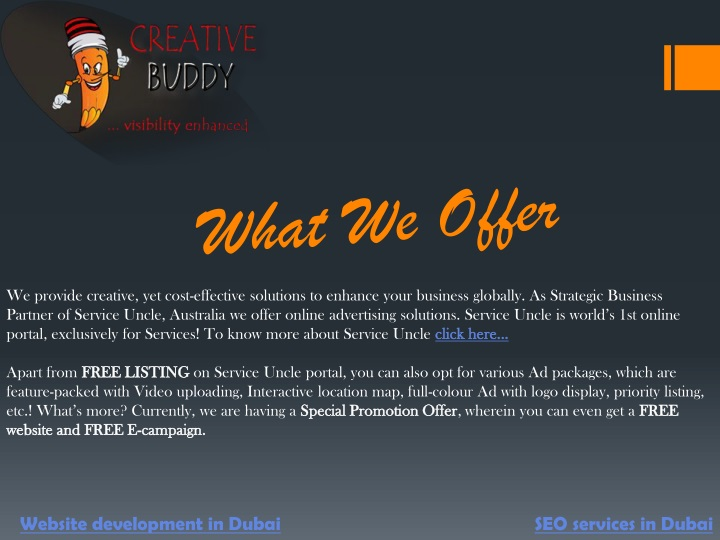 what we offer n.