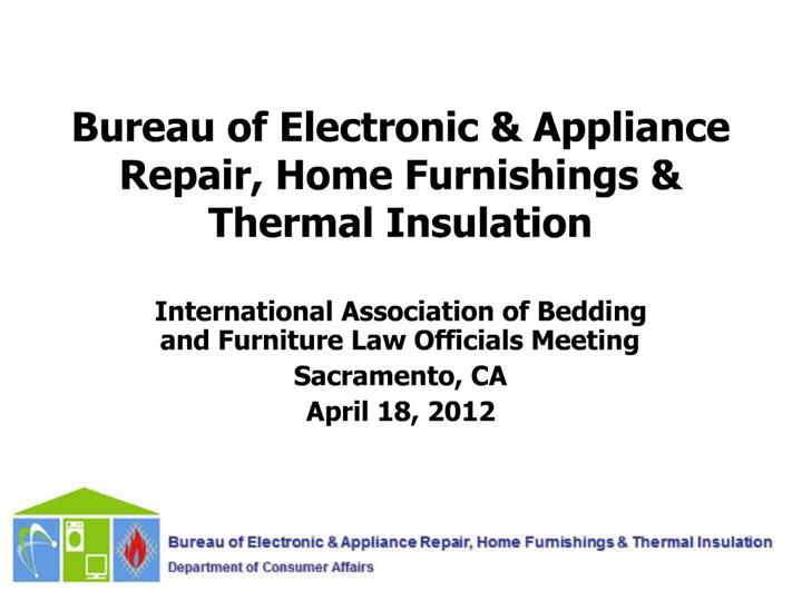 Ppt Bureau Of Electronic Appliance Repair Home
