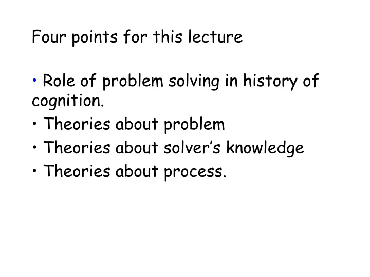four points for this lecture n.