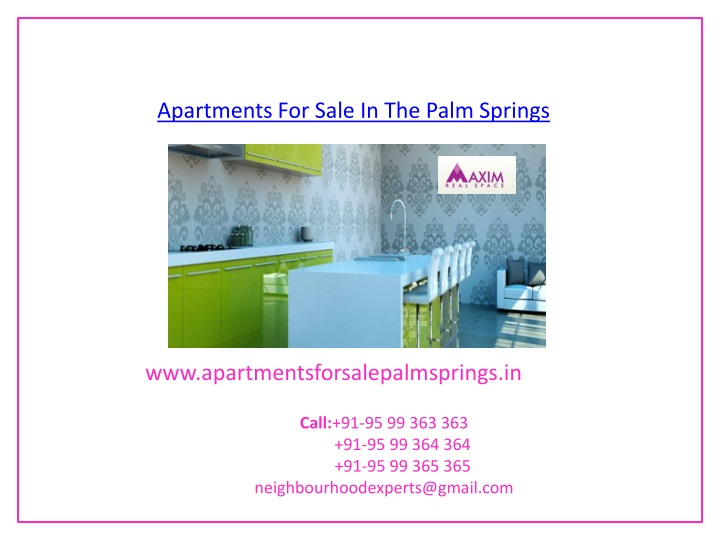 apartments for sale in the palm springs n.