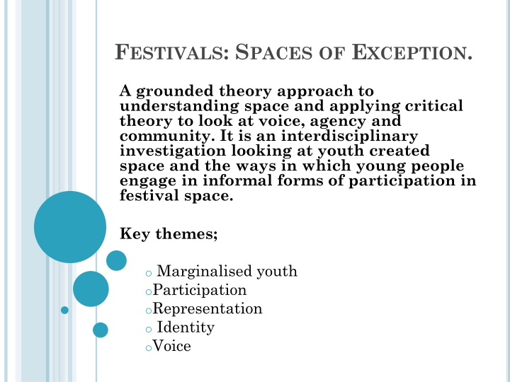 festivals spaces of exception n.