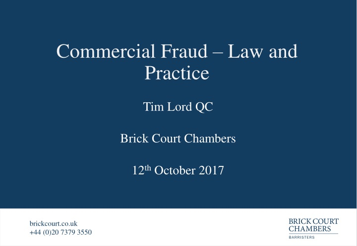 commercial fraud law and practice n.