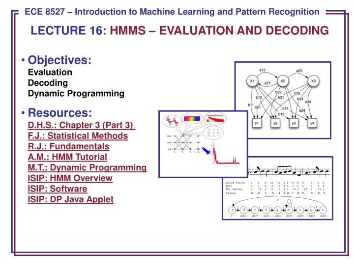 lecture 16 hmms evaluation and decoding n.