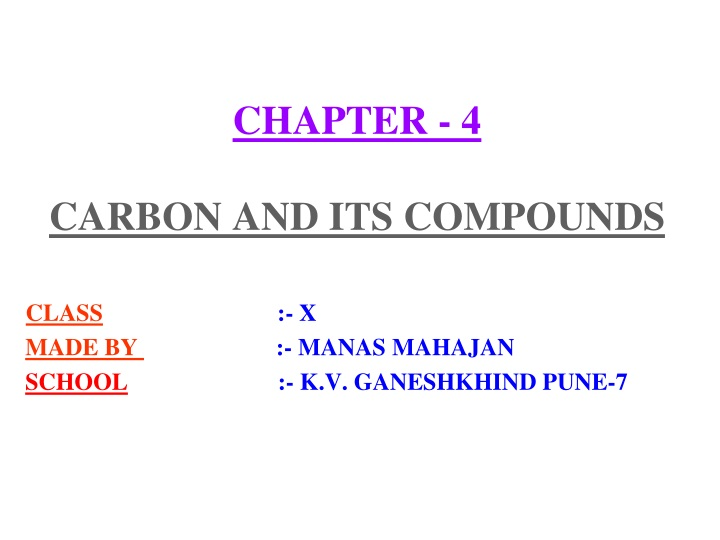 chapter 4 carbon and its compounds n.