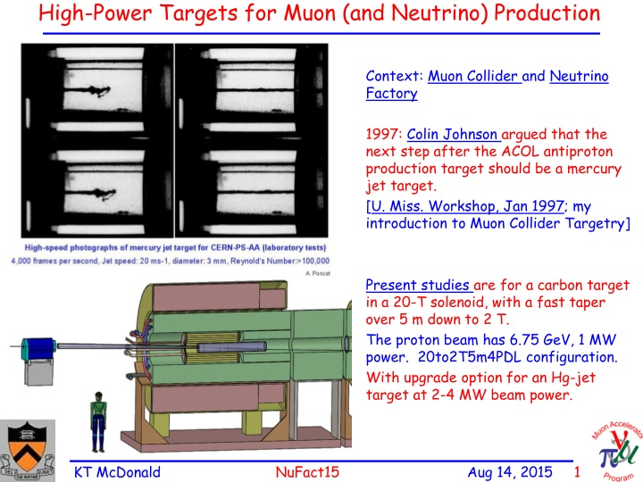 high power targets for muon and neutrino production n.